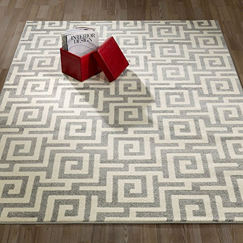 Ottomanson City Collection Modern Area Rug Contemporary Sculpted Effect Key Rug-5x7 (5'3