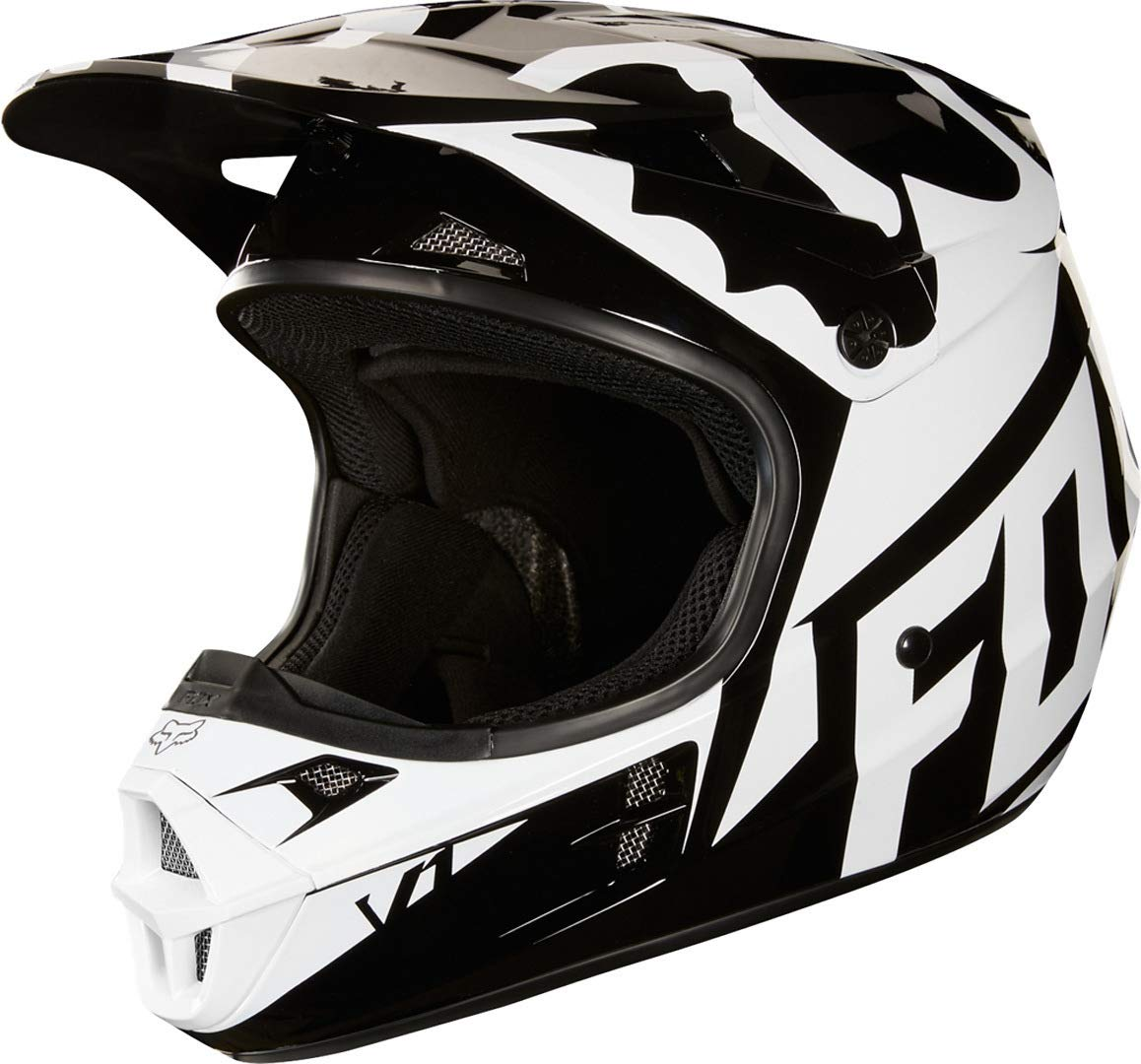 Black, X-Small Fox V1 Grav Helmet Black//Pink