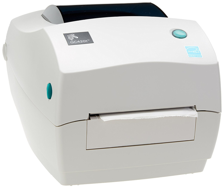 Zebra GC420T Monochrome Desktop Direct Thermal/Transfer Label Printer, 4