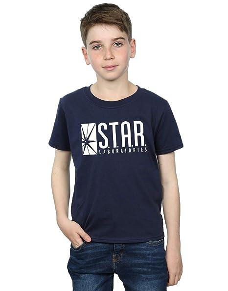 6c6b253c Amazon.com: DC Comics Boys The Flash Star Labs T-Shirt: Clothing