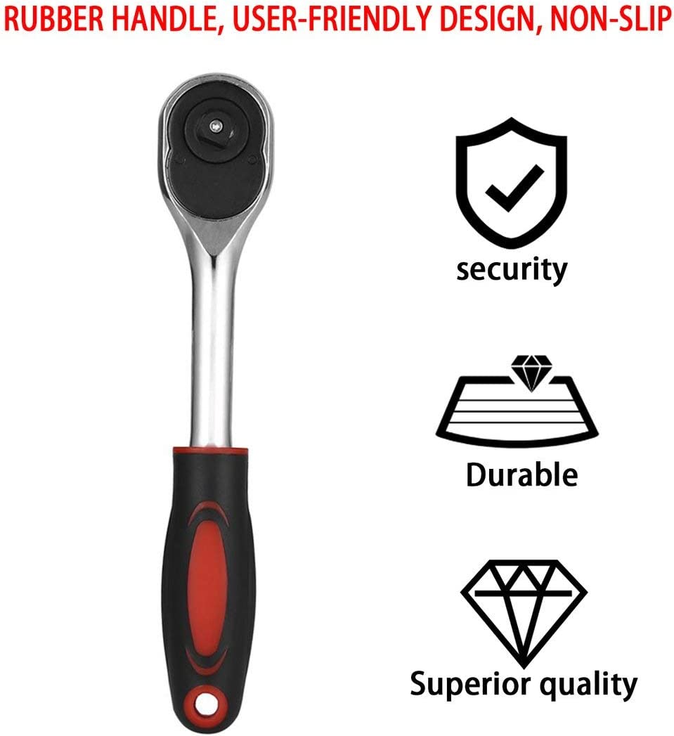Chrome Vanadium Steel 1//2 3//8 1//4 Inch Ratchet Wrench 24 Teeth Torque Wrench Quick Release Wrench Professional Hand Tools