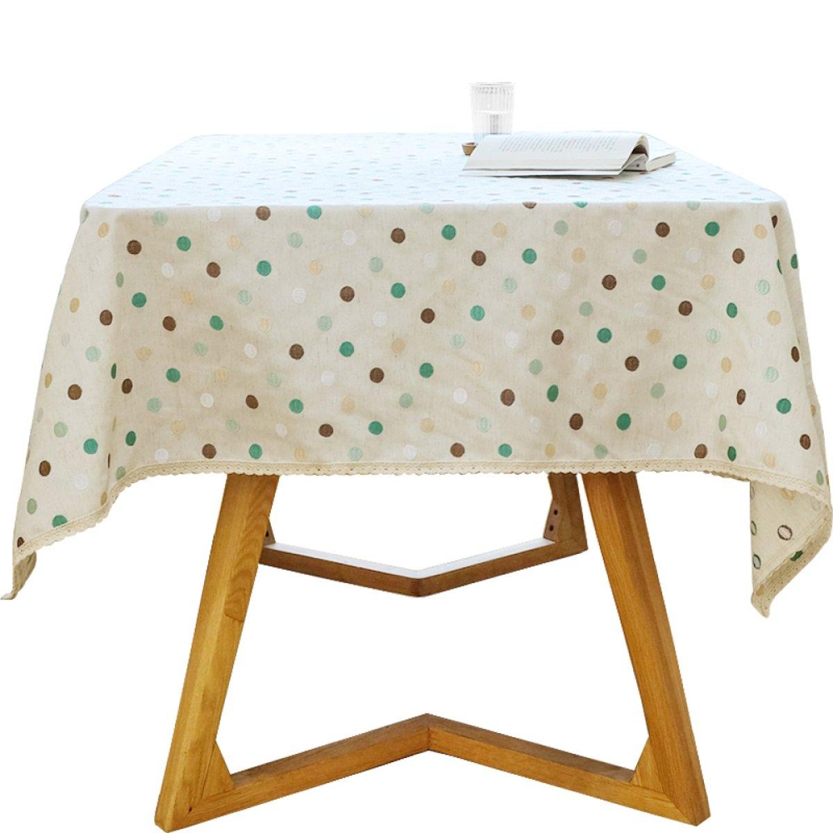 Mantel Paños de tela Paño de tabla de té Paño de tabla Mantel de tela de la toalla Tela de hogar Manteles de la familia Home Círculo de punto Tela Decoración (Caqui) ( Tamaño : 140200cm (55.178.7in) )