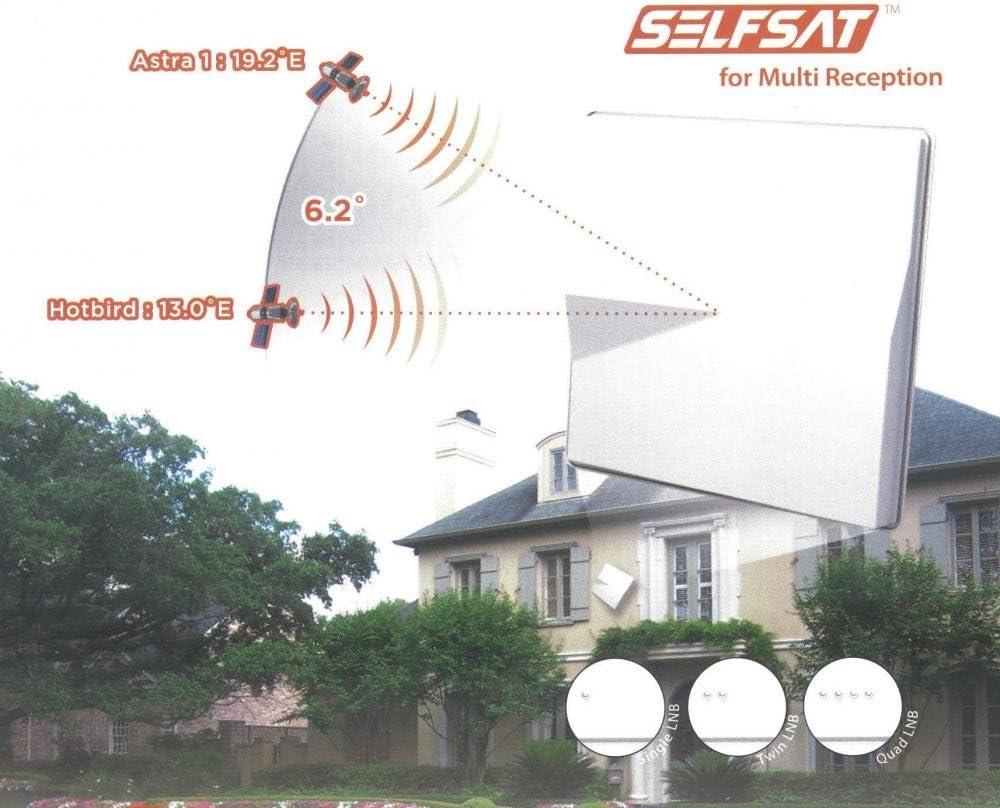 Selfsat H50M4 - Parabólica, negro