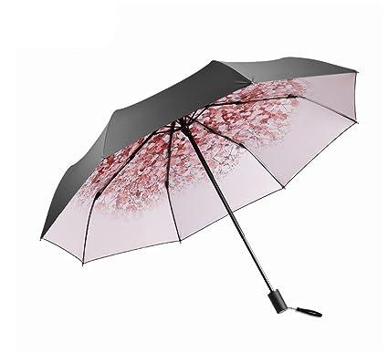 XnZLXS-paraguas viajes Sombrilla compacta Simple Anti-UV Travel Ms Sombrilla Ultraligera Plegable Sunny
