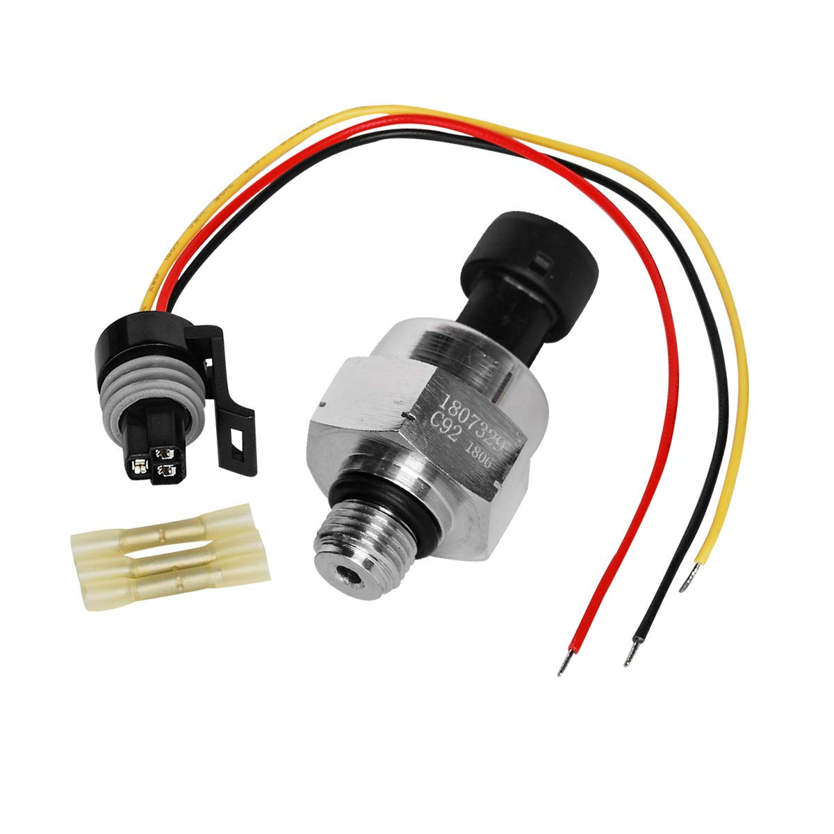 SaferCCTV Injection Control Pressure Sensor Set for 1995-2003 Ford 7.3 Powerstroke Replacement F4TZ-9F838-A, F6TZ-9F838-A,1807329C92, ICP102