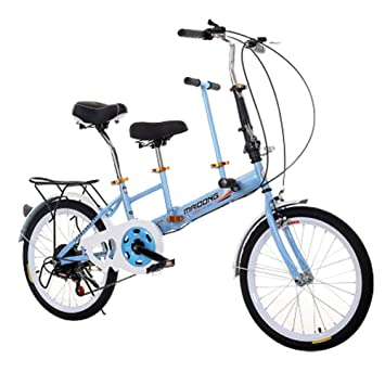 LETFF Bici Plegable Doble del Bebé De La Madre Y del Bebé Bici Plegable Doble del