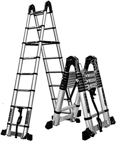 MC-BLL-ladder Escalera telescópica Multifuncional Escalera de Aluminio Escalera de Mano Escalera Plegable Escalera de hogar: Amazon.es: Hogar
