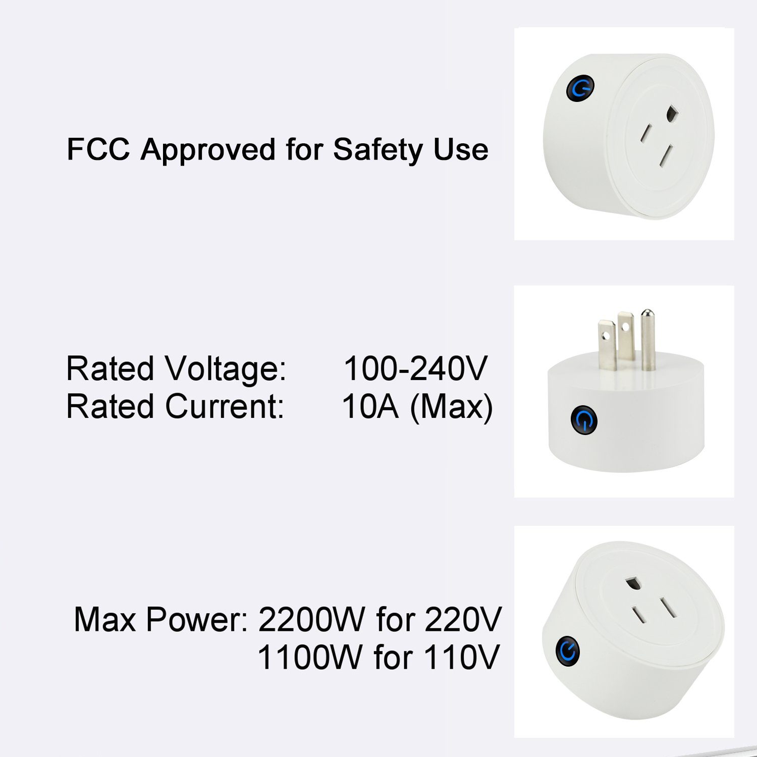 Martin Jerry mini Smart Plug Compatible with Alexa, Smart Home Devices Works with Google Home, No Hub required, Easy installation and App control Smart Switch On / Off / Timing (Model: V01) (2 Pack) by Martin Jerry (Image #6)