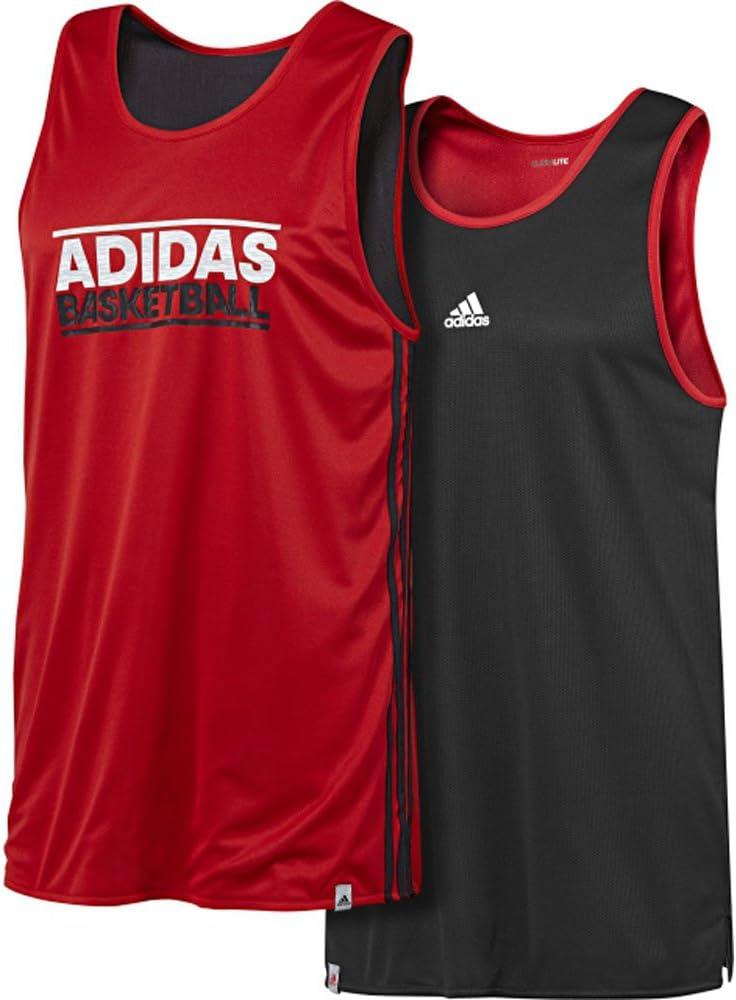 adidas GFX Camiseta de Baloncesto Reversible para Hombre, Red ...