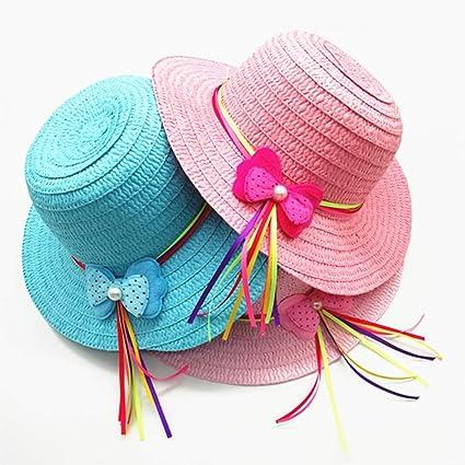 Flower Cap Handbag Hat Bag Straw Weave Gift Girls Kids Children Toddler Sun
