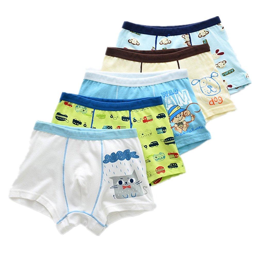 Mangka 5-Pack Infant Baby Boys Cotton Shorts Boxer Briefs