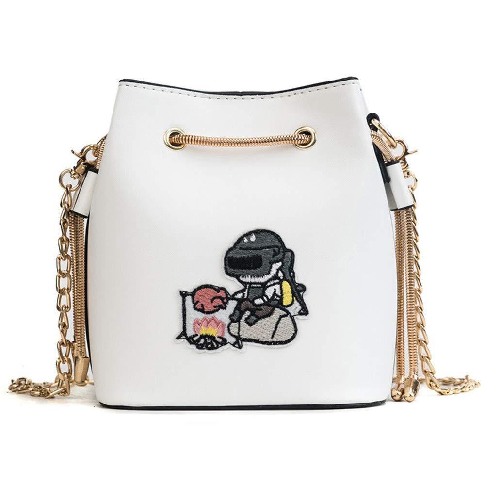 Summer Fairy Cute Girl Mini Diagonal Casual One Shoulder Bag Multifunctional diagonal package (Color : White)