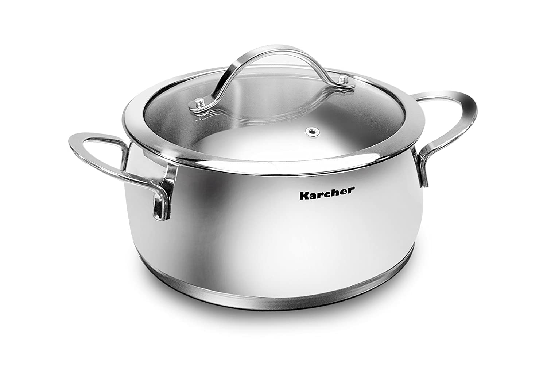 Karcher Lara Bater/ía de cocina apta para inducci/ón 7 piezas acero inoxidable