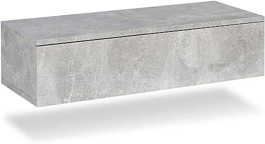 tiroir Aspect béton Table avec Galdem® Chevet Suspendue de OXNPZn0w8k