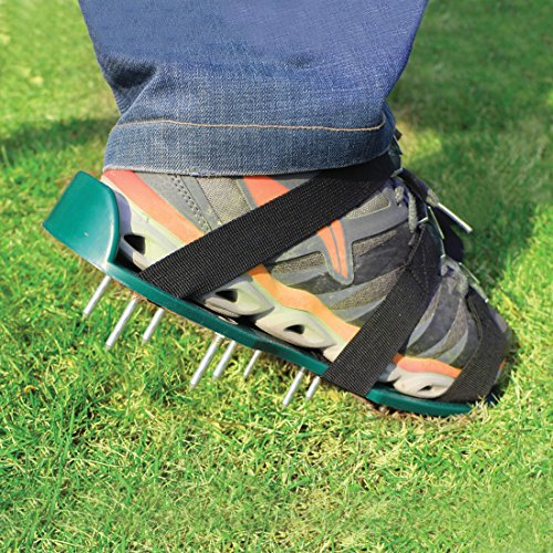 Lawn Aerator Spike Shoes – For Effectively Aerating Lawn Soil – Comes with 3 Adjustable Straps with Metallic Buckles – Universal Size that Fits all – For a Greener and Healthier Garden or Yard. by Abco Tech (Image #8)