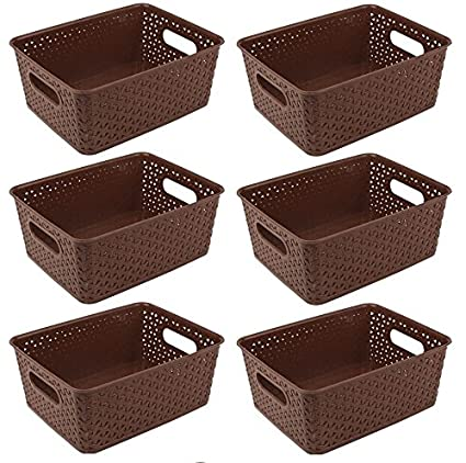 FAIR FOOD NAOETM Storage Basket for Multi Purpose USE   Set of 6  Brown  Storage Baskets