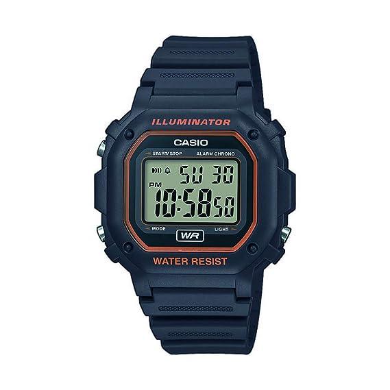 fd5fc340b1b7 CASIO Reloj Digital para Unisex Adultos de Cuarzo con Correa en Resina  F-108WH-8A2EF  Amazon.es  Relojes