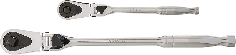 "Gearwrench 81274 2-Pc 1//4/""  3//8/"" Full Polish Locking Flex Head Ratchet Set"