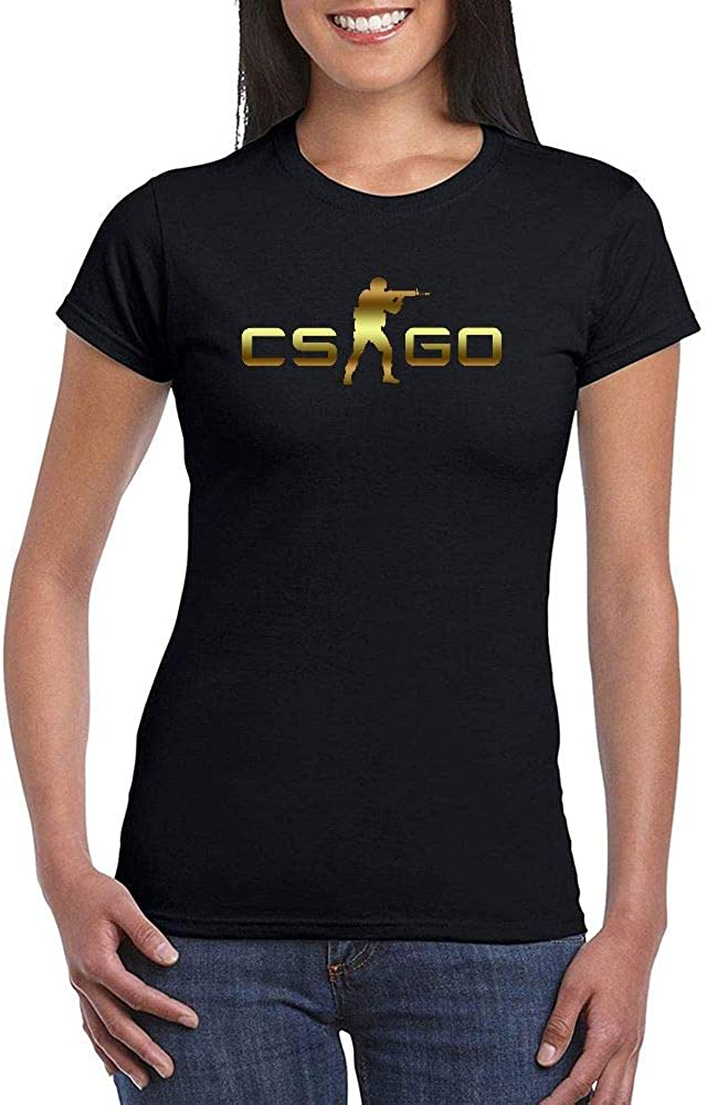 Mujer Counter Strike Global Offensive Black Short Sleeve Camiseta T-Shirt tee
