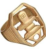 Exotic India Shiva Linga Ring - Brass