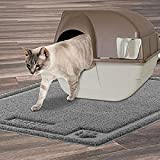 SHUNAI Cat Litter Mat- Extra Large 35''x25'' - Pet Feeding Mat Trapping Rugs - Feeding Mat for Cat and Dog Bowls - Waterproof Dog Food Mat - Easy to Clean - Non-Slip Backing