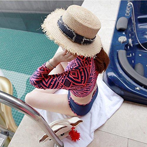 De Hierba Parte Vaquero Sunscreen Tapa Paja Retro Superior Playa Plana Verano Correa Btbtav Primavera Pequeña Sombrero Ajustable La Borde A Sombreros Con dqFY77xtw