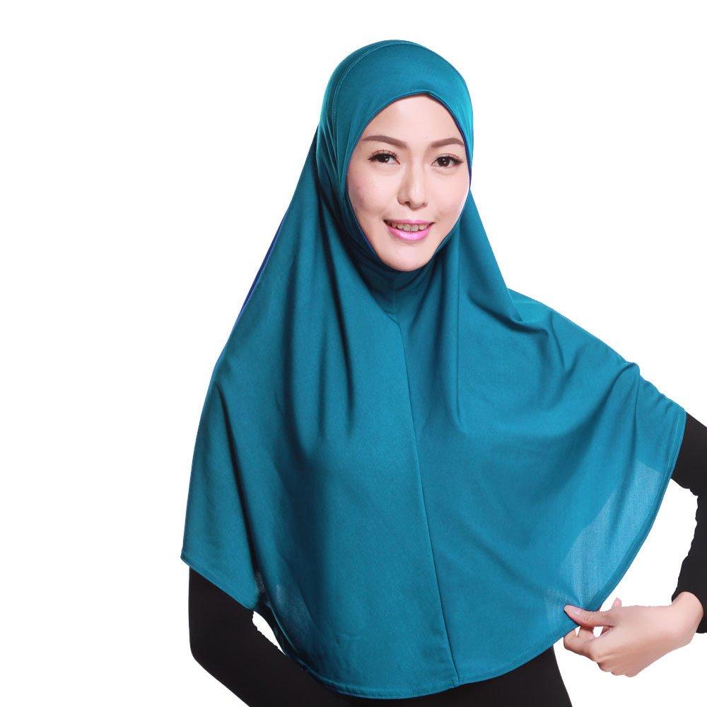 Airuiby Islamic Muslim Long Hijab Inner Hijab Cap Scarf Cotton Headscarf 20 Color