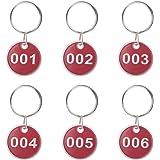50pcs Etiqueta Roja Plástica Grabado Números Identificador ...