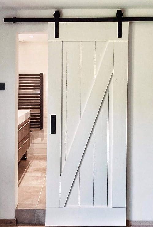 Sistema de puerta corredera recta 200 cm – Juego completo con ...