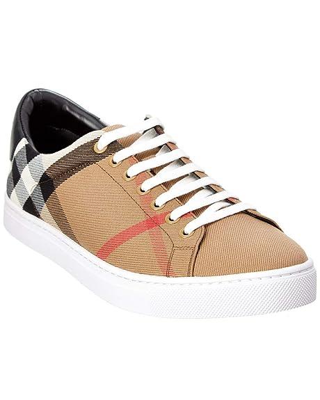 1fac084454 Burberry Sneakers Scarpe Uomo in Tessuto e Pelle Modello 4054037 ...