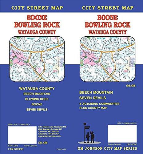 Boone / Blowing Rock / Watauga County, North Carolina Street Map (North Carolina Blowing Rock)