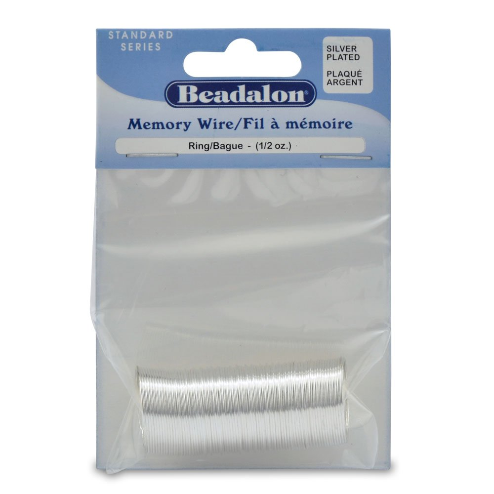 Beadalon Memory Wire Ring .62mm .5oz-Silver-Plated - 99 Coils 347B-010
