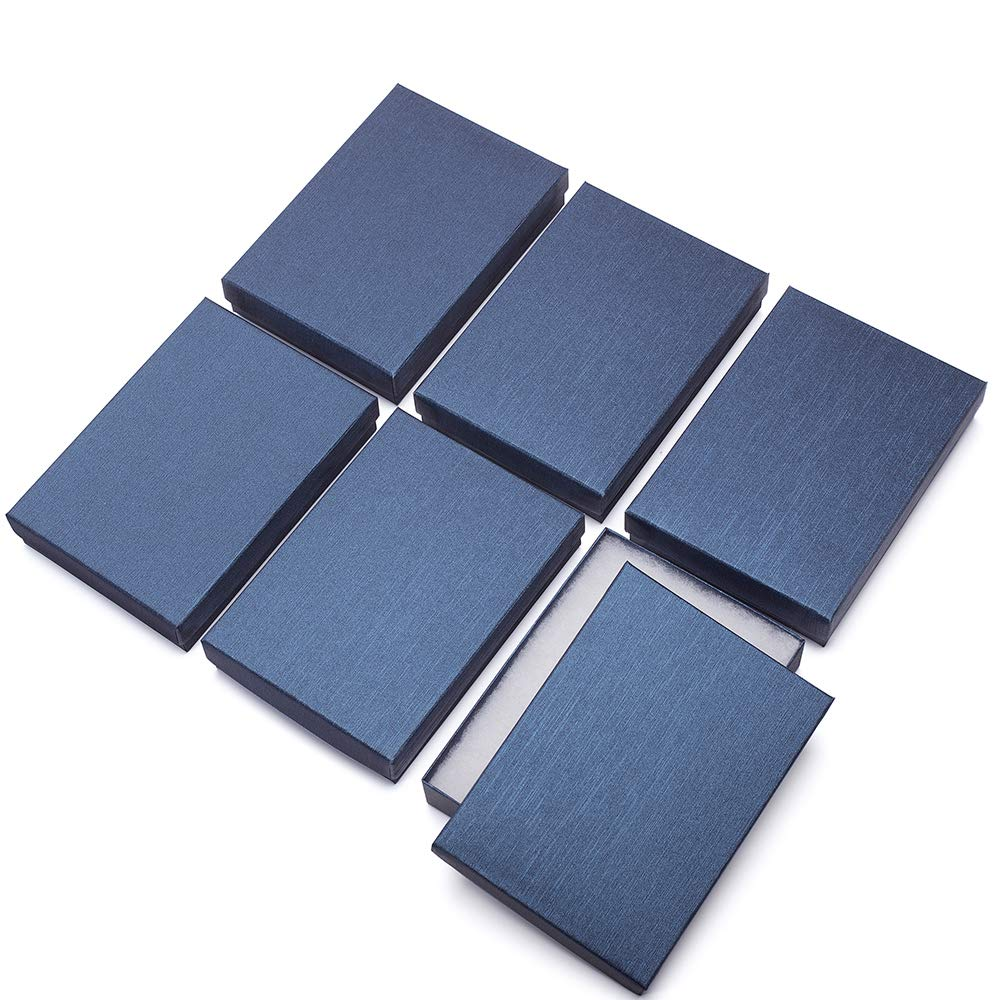 """MESHA 20Pcs Upgrade Jewelry Gift Boxes 5.25x3.75x1"""" Cardboard Necklace Boxes (Blue)"""