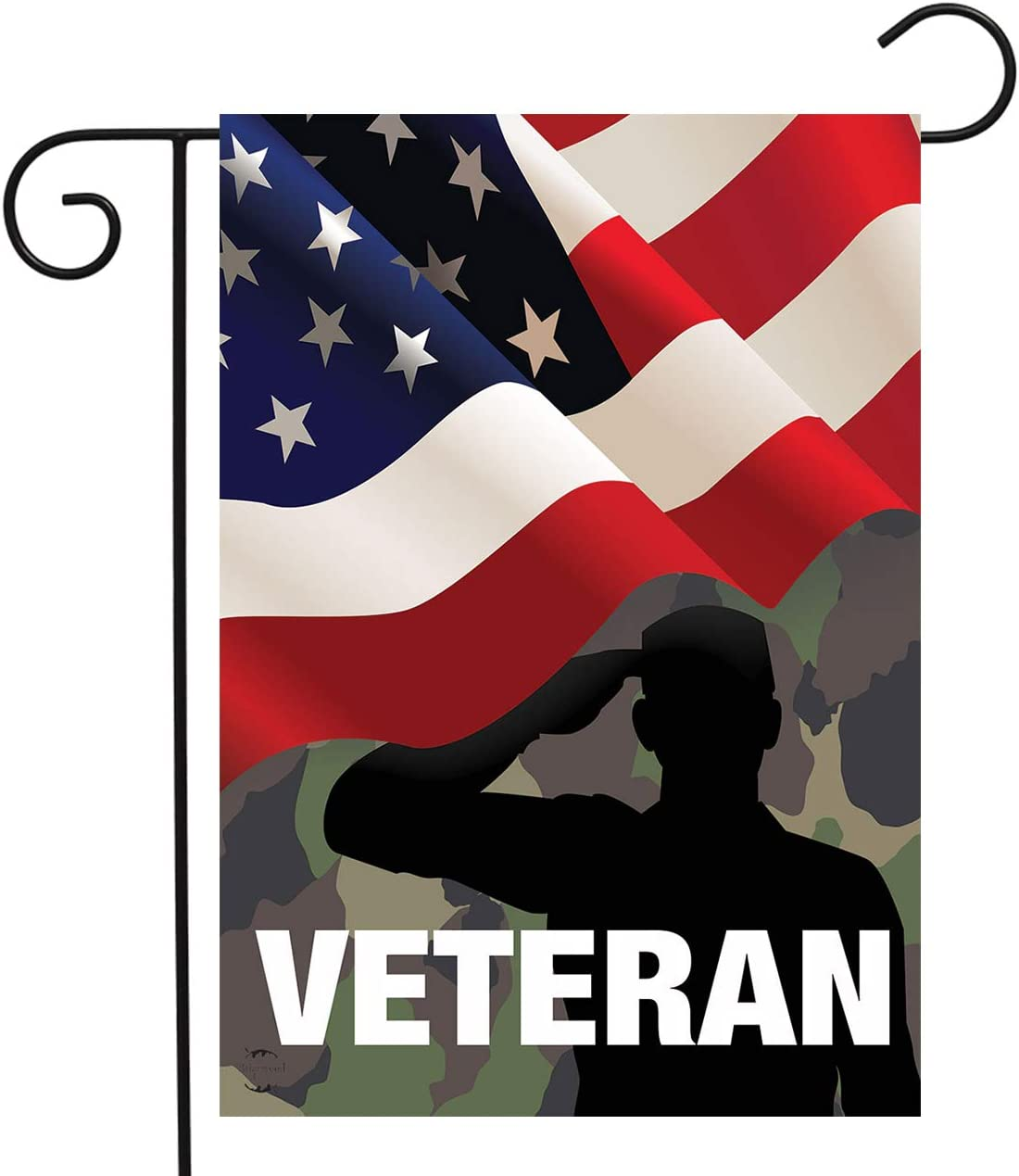 """Briarwood Lane Veteran Military Garden Flag Armed Forces Soldiers Vets 12.5"""" x 18"""""""