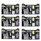 UCEC MB102 3.3V/5V Breadboard Power Supply Module for Arduino Board Solderless Breadboard (Pack of 6)
