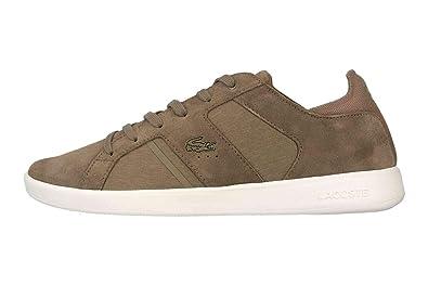5618f90e600162 Lacoste Novas 119 3 SMA Sneaker in Übergrößen Braun 37SMA00382A9 große  Herrenschuhe