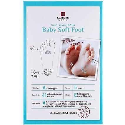 Leaders Mediu Baby Soft Foot Peeling Mask 1 Pack 5pcs