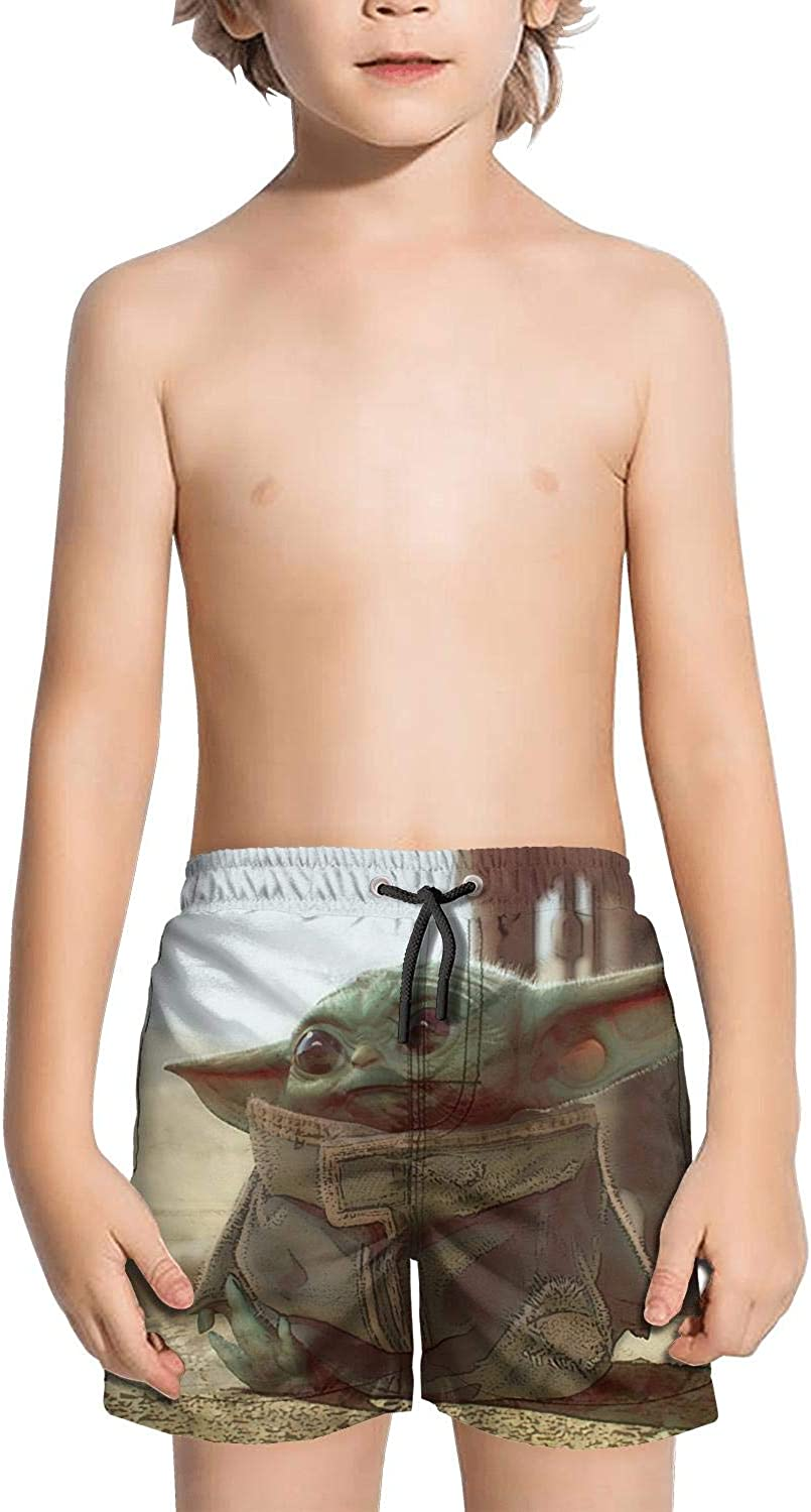 Colorful Sports Shorts Not applicable Youth Swim Trunks Quick Dry Baby-Yoda-Design-Poster