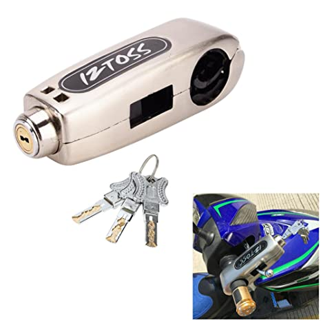Motorcycle Grip Lock Handlebar Throttle Security Lock Anti-Theft Scooters fit for ATV Motorcycles Dirt Street Bike Blue