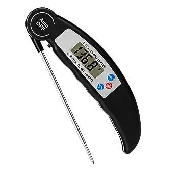Termómetro de carne plegable de LYSLEDa, termómetro digital instantáneo con sonda para cocina, barbacoa