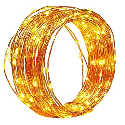 Solar Christmas String Lights,easyDecor Copper Wire 150 LED 50ft Warm White Waterproof Decorative Starry Fairy Rope Light for Thanksgiving,Outdoor,Indoor,Party,Patio,Garden,Holiday,Wedding,Xmas Tree