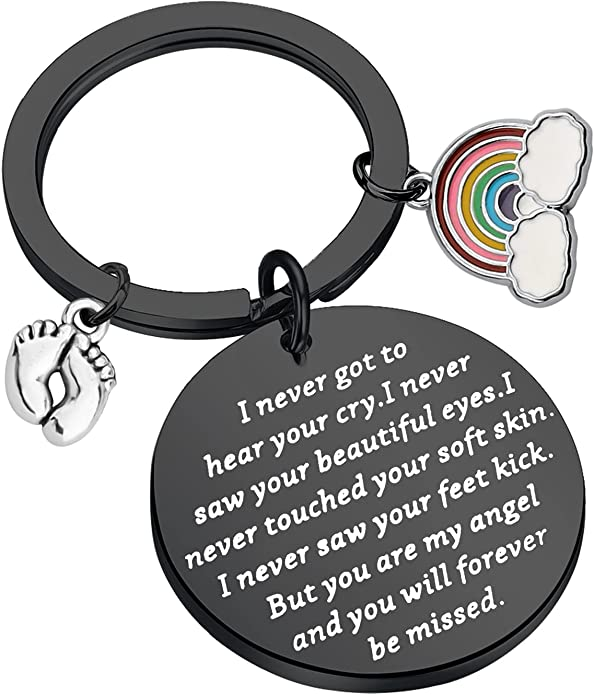 Miscarriage Necklace Sympathy Gift for Her Sterling Silver Rainbow Necklace