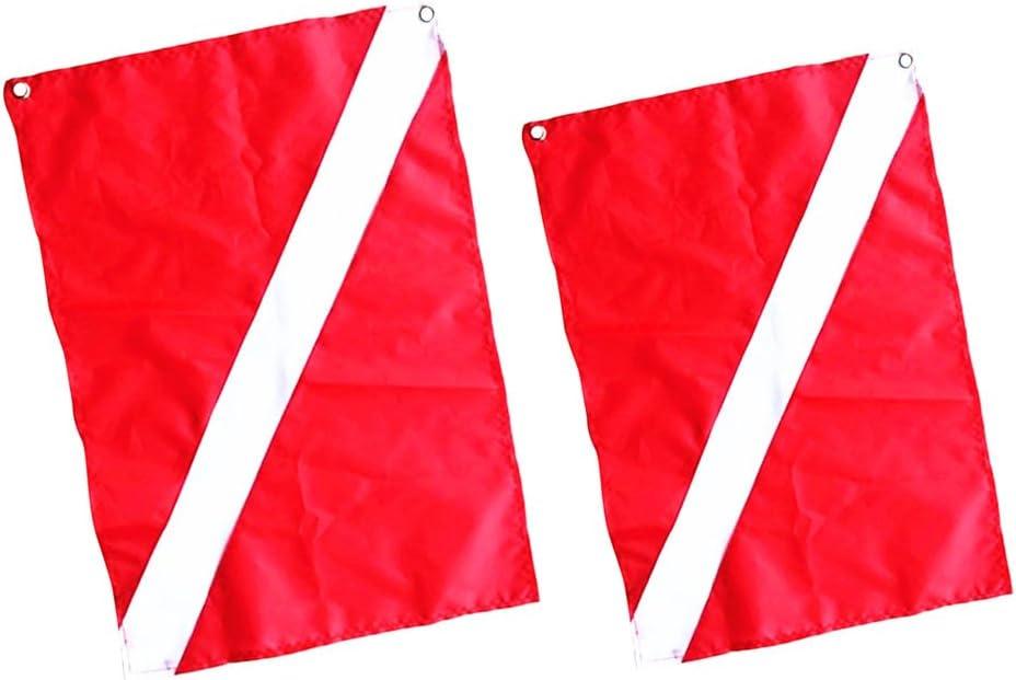 MagiDeal 2 Piezas de Buceo Bandera de Señalización de Seguridad Bandera Barco: Amazon.es: Deportes y aire libre