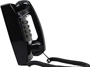 Single Line Classic 2554 Wall Phone with Loud Ringer and Handset Volume Control, Black - Wall Mount Jack Required