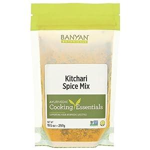 Banyan Botanicals Kitchari Spice Mix - 97% Organic - Ayurvedic Spices to Stimulate Digestion - Made in USA (10.5 Ounces)