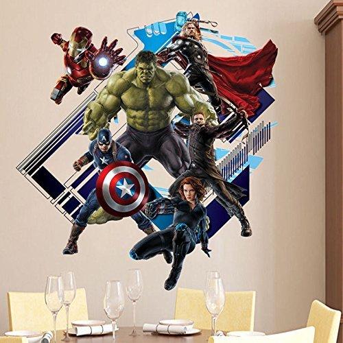 3D Avengers Super Hero Art Wall Sticker Kid Room Decor Decal Removable Art Mural