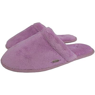 Amazon.com | Acorn Womens Micro Terry Scuff Bathhouse Slipper Pink Size Small | Slippers