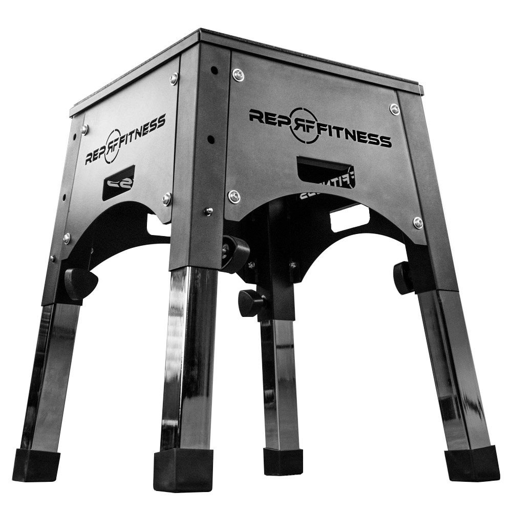 Rep Adjustable Plyo Box 16/20/24, Plyometric Box for Agility Workouts and Box Jump Training by Rep Fitness