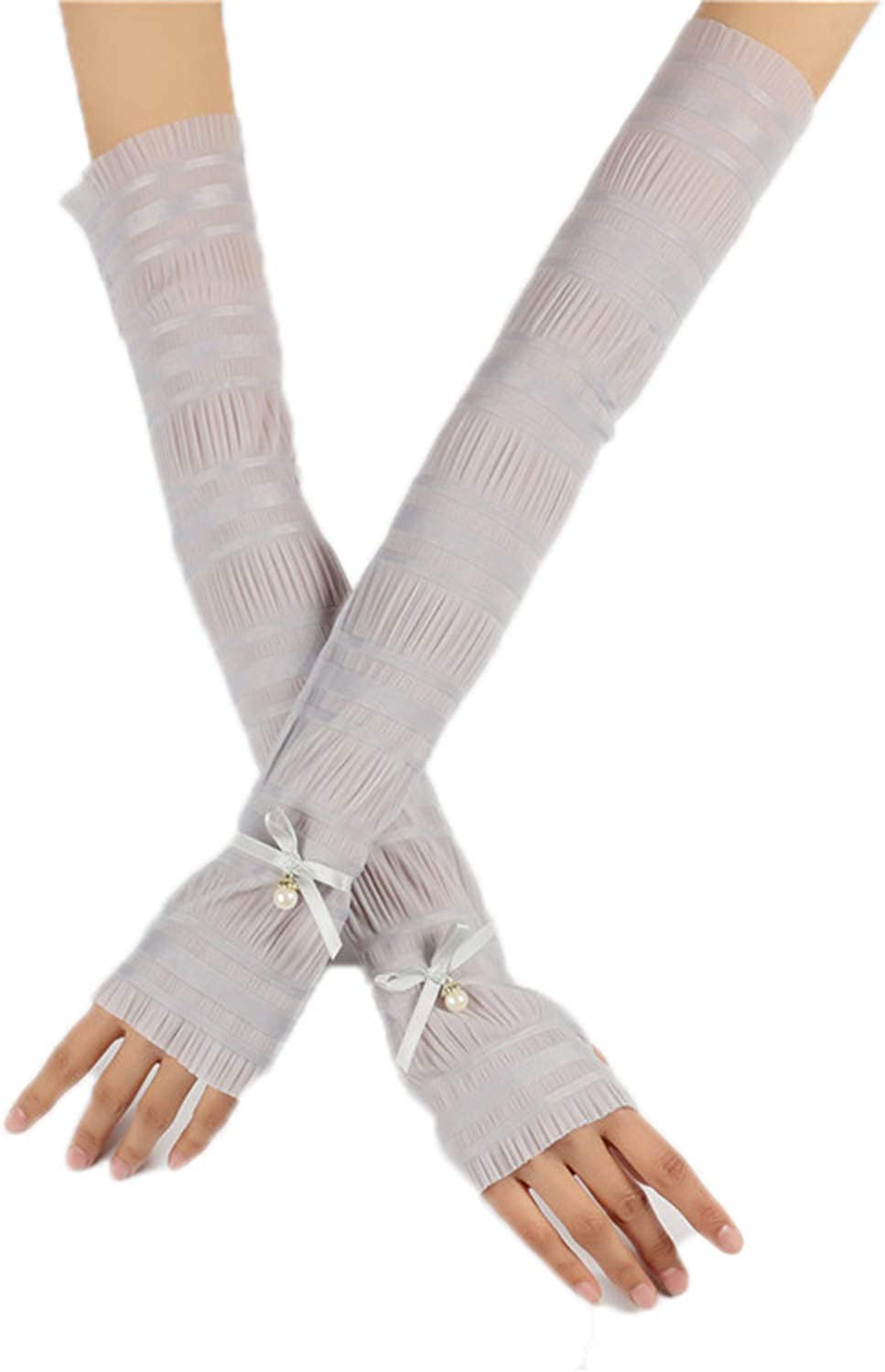 Long Lace Gloves Bowknot...