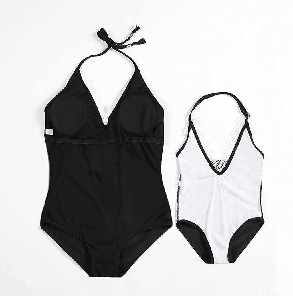 Gueuusu Mommy and Me Swimsuit Mother Daughter Bathing Suit Mom and Girls Swimwear Monikini